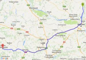 Pułtusk (mazowieckie) - Ostrów Wielkopolski (wielkopolskie)