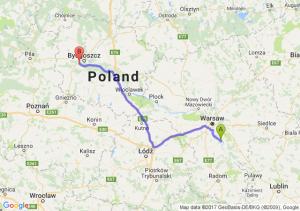 Trasa Góra Kalwaria - Białe Błota
