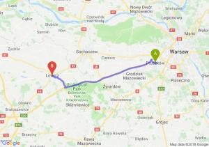 Trasa Pruszków - Łowicz