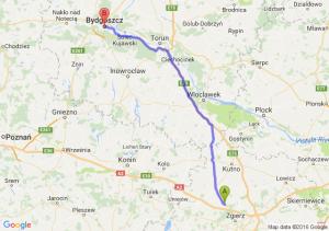 Ozorków (łódzkie) - Bydgoszcz (kujawsko-pomorskie)