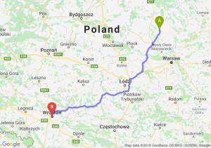 Trasa Ciechanów - Wrocław