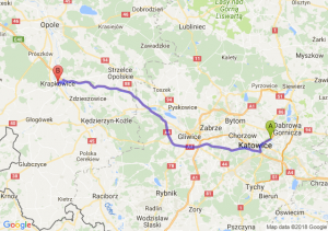 Trasa Sosnowiec - Krapkowice