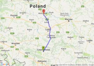 Trasa Częstochowa - Kowal