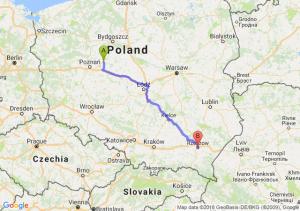 Trasa Gniezno - Rzeszów