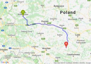 Trasa Gorzów Wielkopolski - Wieluń