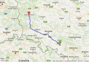 Trasa Krapkowice - Zielona Góra
