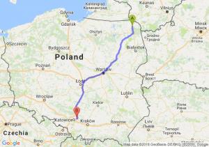 Trasa Suwałki - Dąbrowa Górnicza