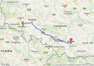 Trasa Świebodzice - Kraków
