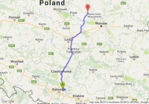 Trasa Dąbrowa Górnicza - Płońsk
