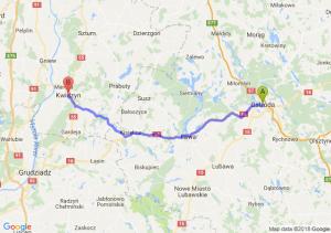 Trasa Ostróda - Kwidzyn
