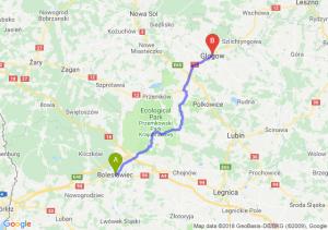 Trasa Bolesławiec - Głogów