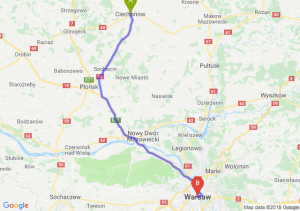 Trasa Ciechanów - Warszawa