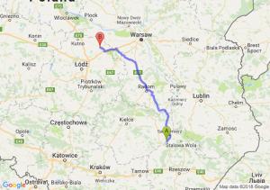 Trasa Tarnobrzeg - Łowicz