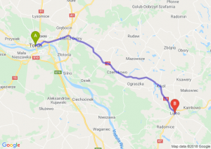 Trasa Toruń - Lipno