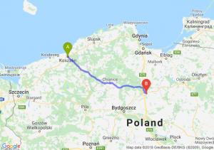 Trasa Koszalin - Grudziądz