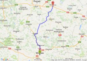 Trasa Wrocław - Września