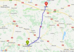 Trasa Ostrów Wielkopolski - Konin