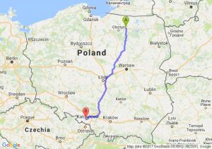Trasa Biskupiec - Nędza