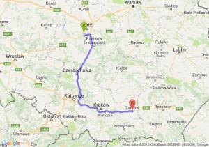 Trasa Pabianice - Tarnów