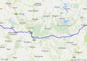Kwidzyn (pomorskie) - Rajgród (podlaskie)