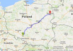 Trasa Dąbrówka Górna - Białystok