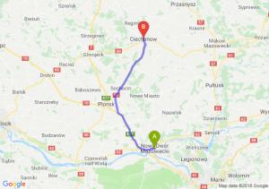 Trasa Nowy Dwór Mazowiecki - Ciechanów