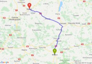 Trasa Wieluń - Kalisz