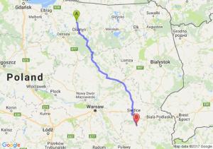 Trasa Dobre Miasto - Łuków