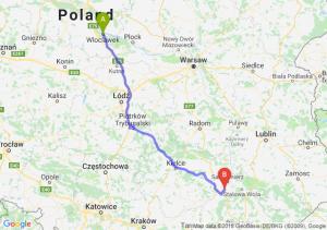 Trasa Włocławek - Tarnobrzeg