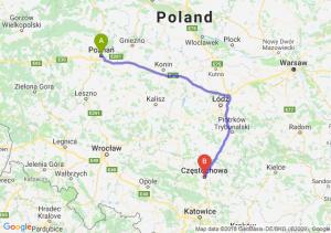 Trasa Poznań - Częstochowa