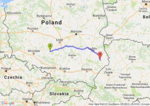 Trasa Wieluń - Zamość