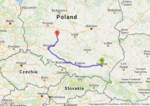 Trasa Rzeszów - Ostrów Wielkopolski