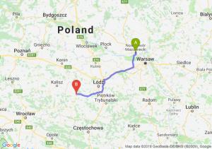 Trasa Nowy Dwór Mazowiecki - Sieradz
