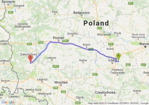 Trasa Brzeziny - Kożuchów