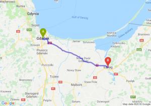 Trasa Gdańsk - Elbląg