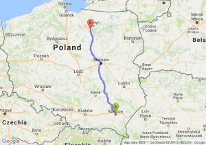 Trasa Rzeszów - Olsztynek