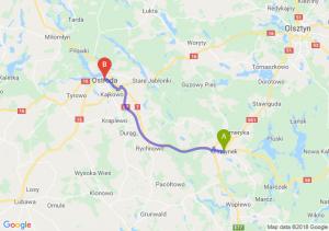 Trasa Olsztynek - Ostróda