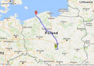 Trasa Bełchatów - Darłowo