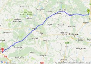 Trasa Warlubie - Gorzów Wielkopolski