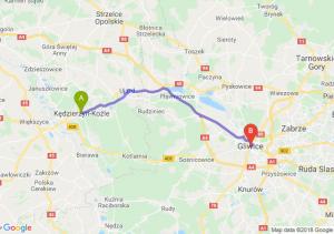 Trasa Kędzierzyn-Koźle - Gliwice