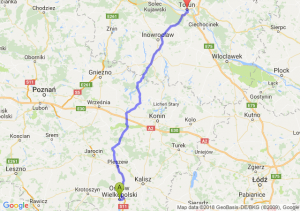 Trasa Ostrów Wielkopolski - Toruń
