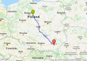 Trasa Toruń - Rzeszów