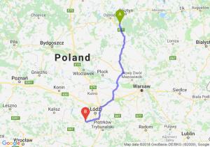 Trasa Olsztynek - Łask