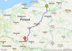 Trasa Suwałki - Gliwice