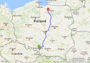 Trasa Rybnik - Ostróda