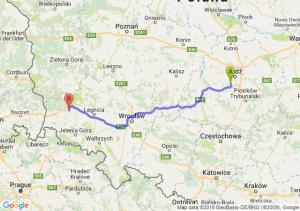 Trasa Pabianice - Bolesławiec
