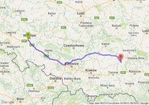 Trasa Bielany Wrocławskie - Borowa