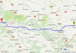Łaszczów (lubelskie) - Stalowa Wola (podkarpackie)