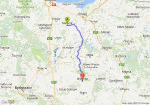 Malbork (pomorskie) - Brodnica (kujawsko-pomorskie)