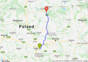 Trasa Brzeziny - Olsztynek